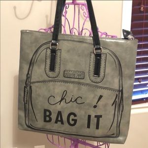 "🖤🆕Nicole Lee Gray ""Chic - Bag It"" Tote Bag🖤👓"